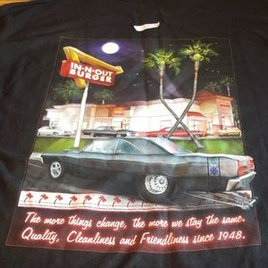 in and out burger  tee